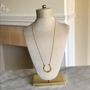 Stella & Dot Double Horn Pendant Necklace